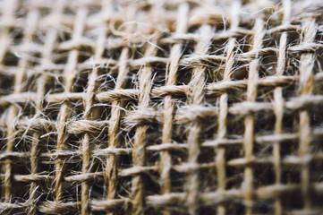 Burlap Closeup