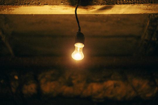 A dim light bulb