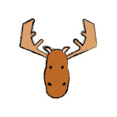 cartoon moose icon