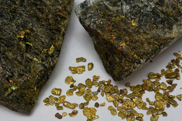 High-Grade Gold Ore and California Placer Gold Nuggets - USA