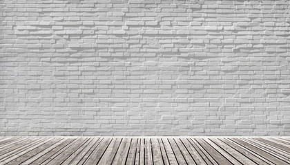 white brick wall background room