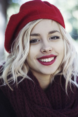 Portrait of a beautiful girl smiling