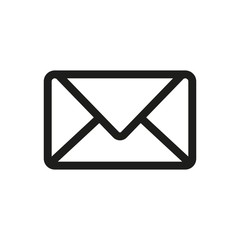 Email Icon Vector Fat Design Editable Stroke. 512x512 Pixel Perfect.