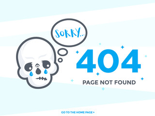 404 page not found vector template