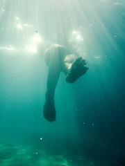 Female Legs Underwater