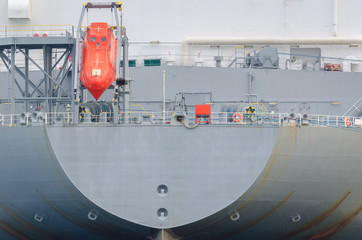 GAS CARRIER - Image of the ship from the stern side
