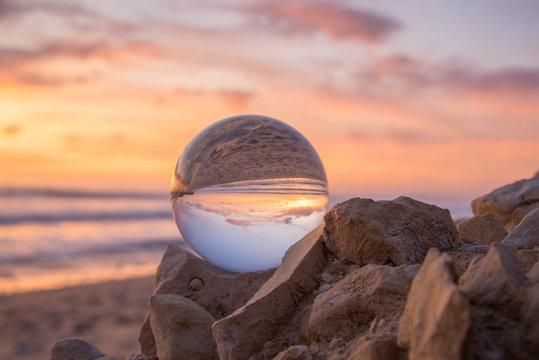 Cocher de soleil cristal ball Sainte Marie de Ré Charente Maritime France