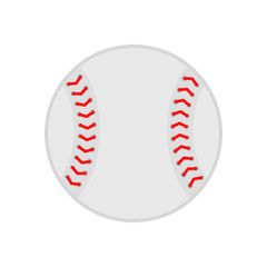 Baseball ball. Softball. Vector silhouette. Vector icon isolated on white background. Flat illustration.