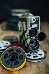 Cinema camera and reels