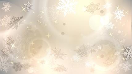winterlicher Hintergrund mit Schneeflocken und Sternen