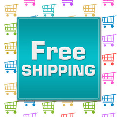 Free Shipping Shopping Cart Background
