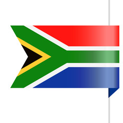 South Africa Flag Vector Bookmark Icon