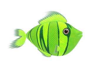 green comic fish