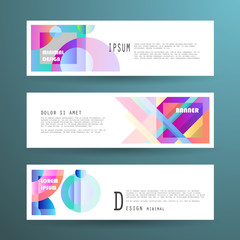 Vector horizontal banner template, abstract design