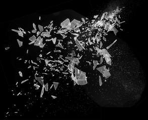 Broken Smashed Glass Exploding