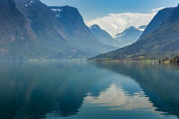 Fotomurales - Oppstrynsvatn (Strynevatnet) lake, Norway