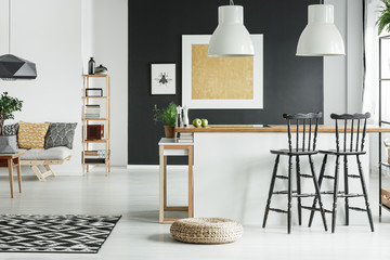 Classy living room with kitchenette