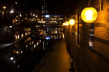 バーミンガム 運河夜景