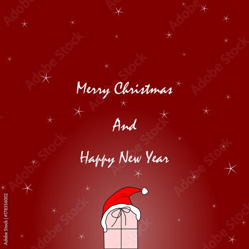 Karte - Weihnachten und Neujahr\
