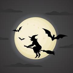 Halloween vector poster.