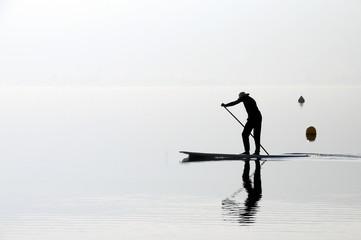Man on paddle