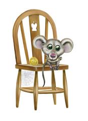 sad mouse sits