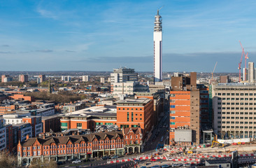 Birmingham, West Midlands, UK skyline. The city is the second biggest in England after London