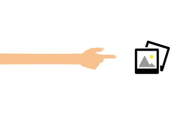 Hand tippt auf Smartphone mit App - Bildergalerie