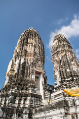 Wat Mahathat places of worship. The temple is in Ratchaburi province Thailand.