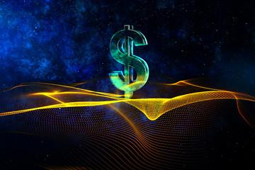 Digital dollar sign wallpaper