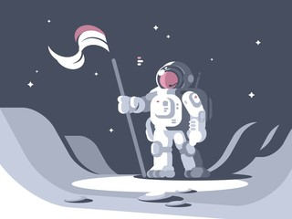 Astronaut character in spacesuit