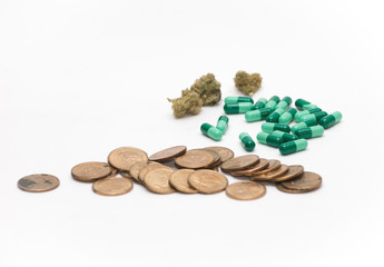 Pills, Buds, and Money