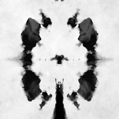 black and white Rorschach test