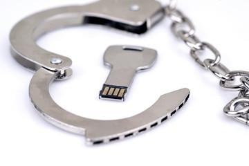 Data safety and handcuffs usb data stick