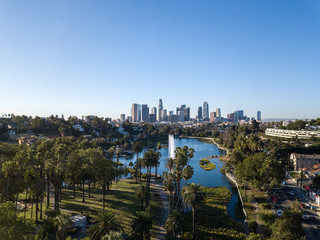 Los Angeles, Echo Park, Drone View