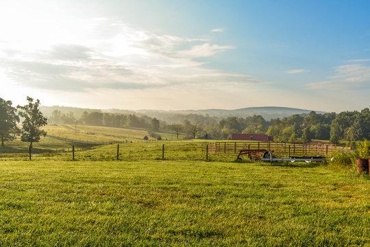 Field Near Smith Mountain Lake VA