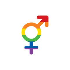 LGBT rainbow colors Mars and Venus both symbol. Transgender symbol icon