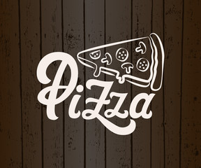 Vector lettering The Best Pizza