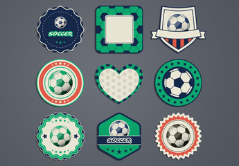 Soccer Labels Set
