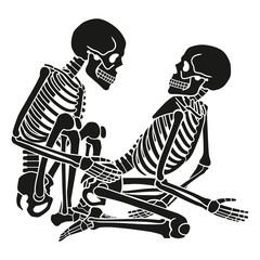 Human skeleton kamasutra set. Vector illustration.
