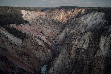 View of the Grand Canyon of the Yellowstone