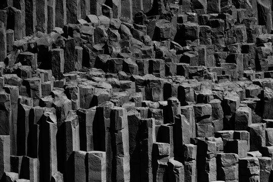 Basalt columns in Iceland, near Vik.