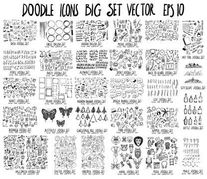 MEGA doodle Data,Circle,Arrow,Music,People,Party,Font,Sport,School,Heart,Frame,Banner,Bubble,Leaf,Business,Insect,Tree,Food,Summer,Halloween,Cactus,Unicorn,Animal,Media,Art tool,City,Bottle,mark