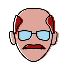 Man with glasses icon vector illustration graphic design