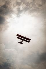 Bi-Plane Flies Overhead