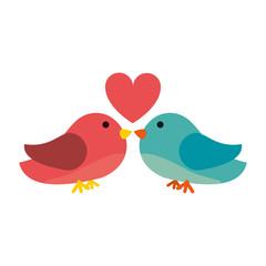 lovebirds romance icon image vector illustration design