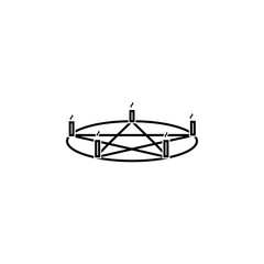 Pentagram candle icon