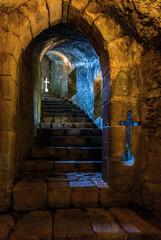 Stairway in the Santa Maria da Feira Castle in Portugal