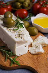 Cheese feta with olives