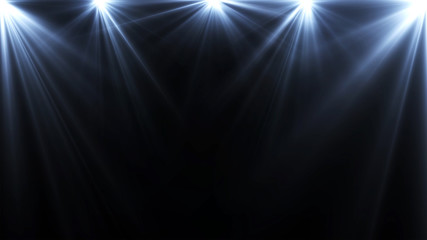 spotlights lighting flare on a dark background, abstract
